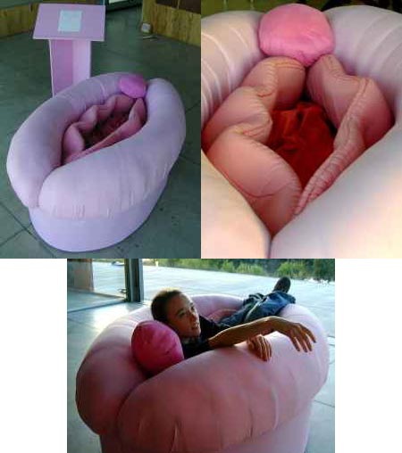 Its a Vagina Couch! I think Im going to have to buy this.