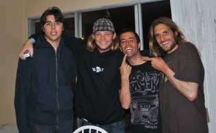 Nick the Kook with SurfingRuinedMyLife.net all stars Cory, John Mauriello and I really hope you recognize the guy on the end.
