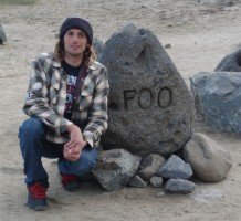 Mark Foo was a world class big wave rider who lost his life at Mavericks back in the early 90's. This rock stands at the foot of the break in his memory.