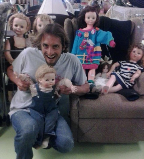 Chris Lisanti and his dolls?