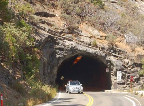 This tunnel is one of two that allow entry into Yosemite Valley, bored right through the granite of the mountain.