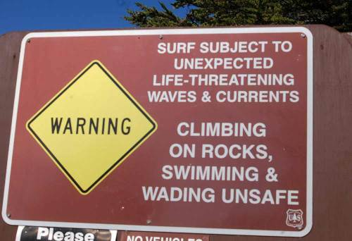 I love when I am about to paddle out at a surf spot and am greeted with a warm sign like this...