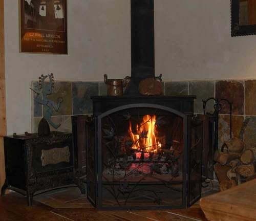 The warm fire we couldn't  wait to get in front of.  Unlike the broken hot tub that let us down.