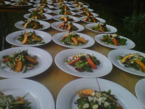 This was close to 150 salads for a wedding at some Hollywood directors 30 million dollar estate in Montecito.